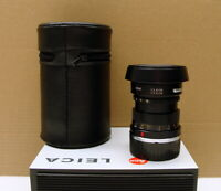 "Leitz Wetzlar - Leica Summicron-M 1:2/50mm black ""mit original Hood"" - RAR!"