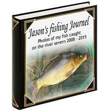 Personalised large photo album, guestbook, Fishing journel scrapbook album