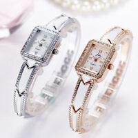 Charming Women's Crystal Rhinestone Stainless Steel Analog Quartz Wrist Watch