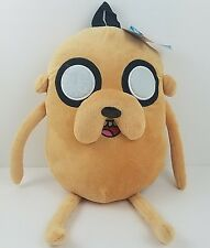 """Cartoon Network Adventure Time Jake Dog Backpack 18"""" Tan Plush Tote Pillow 14 Up"""