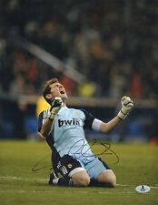 IKER CASILLAS SIGNED AUTO'D 11X14 PHOTO BAS COA REAL MADRID SPAIN PORTO A