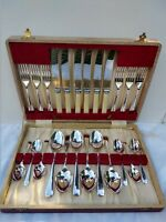 Quality Unused 1930s Old English Cutlery Set  Sheffield Silver Plated Fitted Box