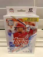 2021 Topps Series 1 Baseball Retail Hanger Box Walmart / Royal Blue New Sealed