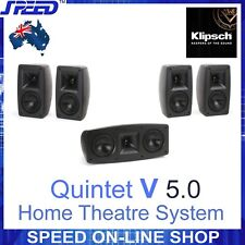 Klipsch Quintet V Home Theatre 5.0 Speakers System – Ex Demo - 12 months WTY