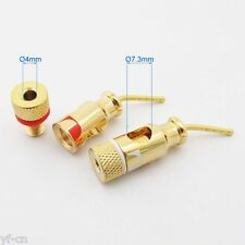 2pcs Nakamichi Hi-Fi Angle 2mm Pin Tip to 4mm Banana Jack Converter Adapter