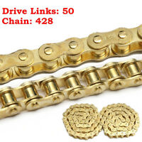 50 Links 428 Sprockets Drive Chain For 50cc 110cc 125cc 140cc PIT Dirt Bike  #