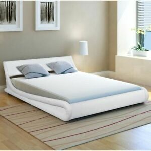 vidaXL Double Bed Pinewood White 5FT King Size Bedroom Furniture Bedstead