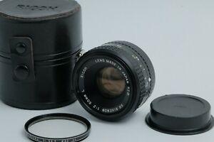Read As Is RICOH XR RIKENON 50mm F/ 2 L w/ Case JAPAN 201467