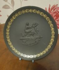 RARE Wedgwood Mother Small Plate/Dish Black and Gold Jasperware
