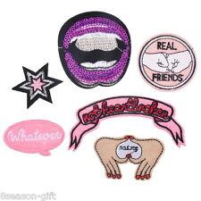 1Set/6PCs Mixed Lips Star Letter Cartoon Patch Iron On Garment Accessories