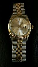 ROLEX 1601 MENS DATEJUST TWO TONE 14K GOLD STAINLESS JUBILEE VINTAGE WATCH 36MM