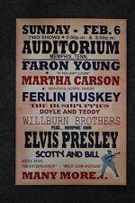 Elvis Tour Poster 1955 Memphis Faron Young, Martha Cars