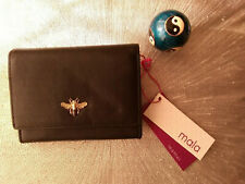 Mala Leather Purse Black Bumble Bee RFID
