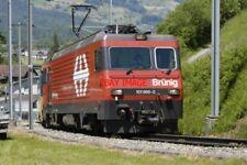 PHOTO  SWITZERLAND 2006  BRUNIG LOCO 101 966-0 LEAVING GISWIL  LUCERN BOUND