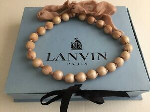 100 % Auth LANVIN Covered Pearls  Necklace. Made in France. Stunning !