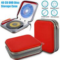 Slim-Line CD//DVD Jewel Case Box RED 5.2 mm  8-pack Nice New
