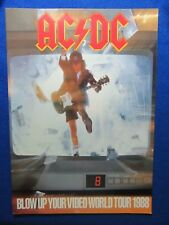 ~~ AC/DC  BLOW UP YOUR VIDEO 1988 TOUR PROGRAM ~ NEVER CIRCULATED ~~