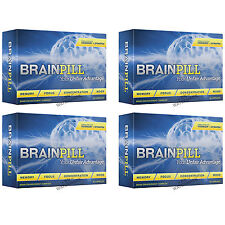 4 BRAINPILL Focus Supplement BOOST Memory Cognizin Synapse factor Brain Pill