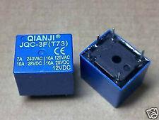 10pc QIANJI JQC-3F(T73) 12VDC PCB RELAY SPDT 10A 125VAC