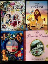 4ct Disney Hardcover Books (Princess Winter Dreams Primer, Lion King Toy Story)