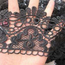1 yard 9cm Vintage Black Lace Edge Trim Ribbon Wedding Applique DIY Sewing Craft