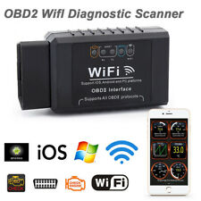 ELM327 WIFI OBD OBDII Auto Car Diagnostic Scan Tool Scanner For IOS Andro  .