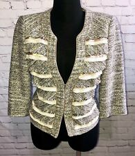White House Black Market Tweed Blazer 8 Mixed Media Metallic Jacket M Medium