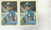 FREE SHIPPING-MINT-1989 Topps #275 Danny Tartabull Royals-2 CARDS