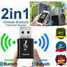 Bluetooth 5.0 Audio Transmitter Receiver USB Adapter for TV PC Car AUX Speaker ~