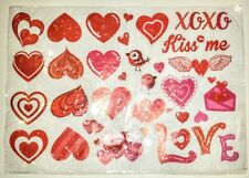 """Valentines Day Window Clings 11.5"""" x 17"""" 4 Sheets"""