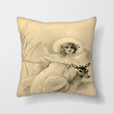 Angel Deer Cushion Covers Pillow Cases Home Decor or Inner