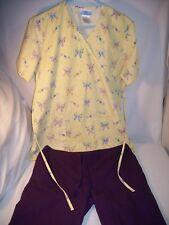 Sb Scrub Yellow Top with Butterflies & Cherokee Purple Bottom both S. (Lot of 2)