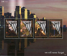 Palau 2011 MNH September 11th Memorial 4v M/S New York Skyscrapers Stamps