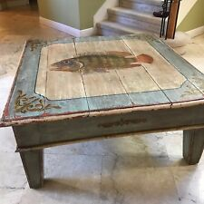 """Gorgeous COFFEE TABLE by """"EQUATOR"""" NATURAL Solid WOOD RUSTIC FISH COUNTRY"""
