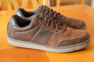 Skechers Memory  foam  Brown  Leather  shoes  size 8 uk  eu 42 great condition