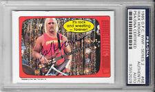 HULK HOGAN Signed 1985 O-PEE-CHEE Series 2 WWF Wrestling CARD #66 WWE PSA/DNA
