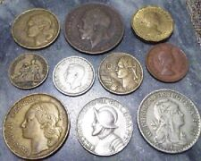 Must See Collection Of 10 Vintage Coins Of The World 1917-1967  FREE US SHIPPING
