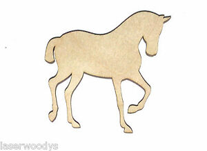 Filly Foal Horse Unfinished Flat Wood Shape Cut Out FF4653 Lindahl Woodcrafts