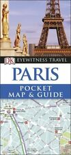 DK Eyewitness Paris Pocket Map & Guide (France) *FREE SHIPPING - NEW*