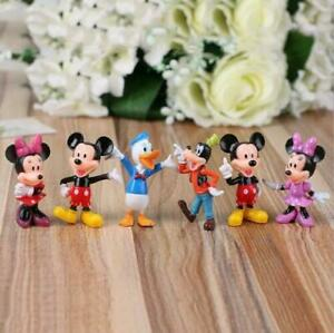 Disney Studio Mickey Mouse Clubhouse Minnie Donald Figure Toys Cake Toppers 6PcB
