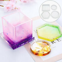 KQ_ AU Transparent Coasters Ashtray Cement Candle Tray Flower Pot Base Silicone