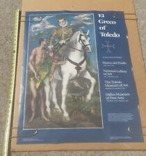 El Greco of Toledo ART MUSEUM Gallery Exhibition Poster Promo 1982-1983 VINTAGE