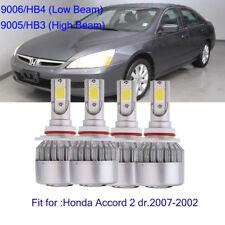 9005 9006 Combo LED Headlight Bulbs for Honda Accord 2007-2002 High & Low Beam