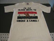 Vintage 1990 Camel T-shirt I`d Fly 10.000 Miles to smoke a Camel! Size L.Oneita