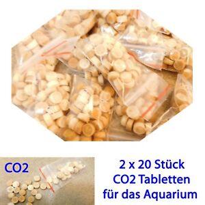 Kohlensäuredüngung CO2 Kohlendioxid-Tabletten grüne Aquariumpflanzen Dünger NEU