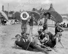 16x20 Poster Beachgoers Pose Hotel Del Coronado San Diego 1917 by Tibbitts #TIBC