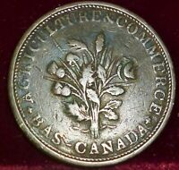 1830-1840'S   BR# 702 ,LC-28   LOWER CANADA MONTREAL ,   TOKEN, CANADA
