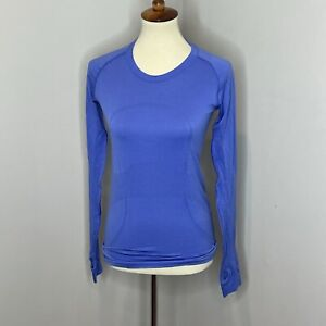 Lululemon Run: Swiftly Tech Long Sleeve Blue Size 6