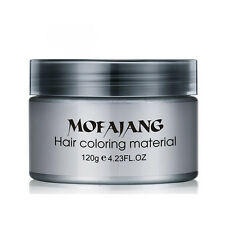 Unisex Silver Ash Hair Color Wax Temporary Gray Hair Hairstyle Wax Styling 120ml