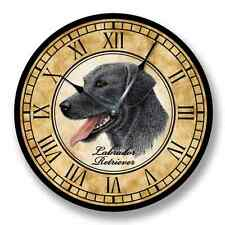 Black Labrador Retriever Wall Clock - Color Pencil Sketch - 8018_Ft